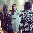 """"""" Kate Middleton, enceinte de six mois et habillée en Seraphine, rencontrait le 19 janvier 2015 des membres de l'association Family Friends et inaugurait dans la foulée la Kensington Aldridge Academy, à Londres """""""