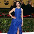 """Julianna Margulies a choisi une robe improbable pour la  21ème cérémonie annuelle des """"Screen Actors Guild Awards"""" à l'auditorium """"The Shrine"""" à Los Angeles, le 25 janvier 2015."""