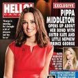 Pippa Middleton en couverture de   Hello! Magazine   Canada en juin 2014 dans une robe LK Bennett en tant qu'ambasssadrice de la British Heart Foundation.