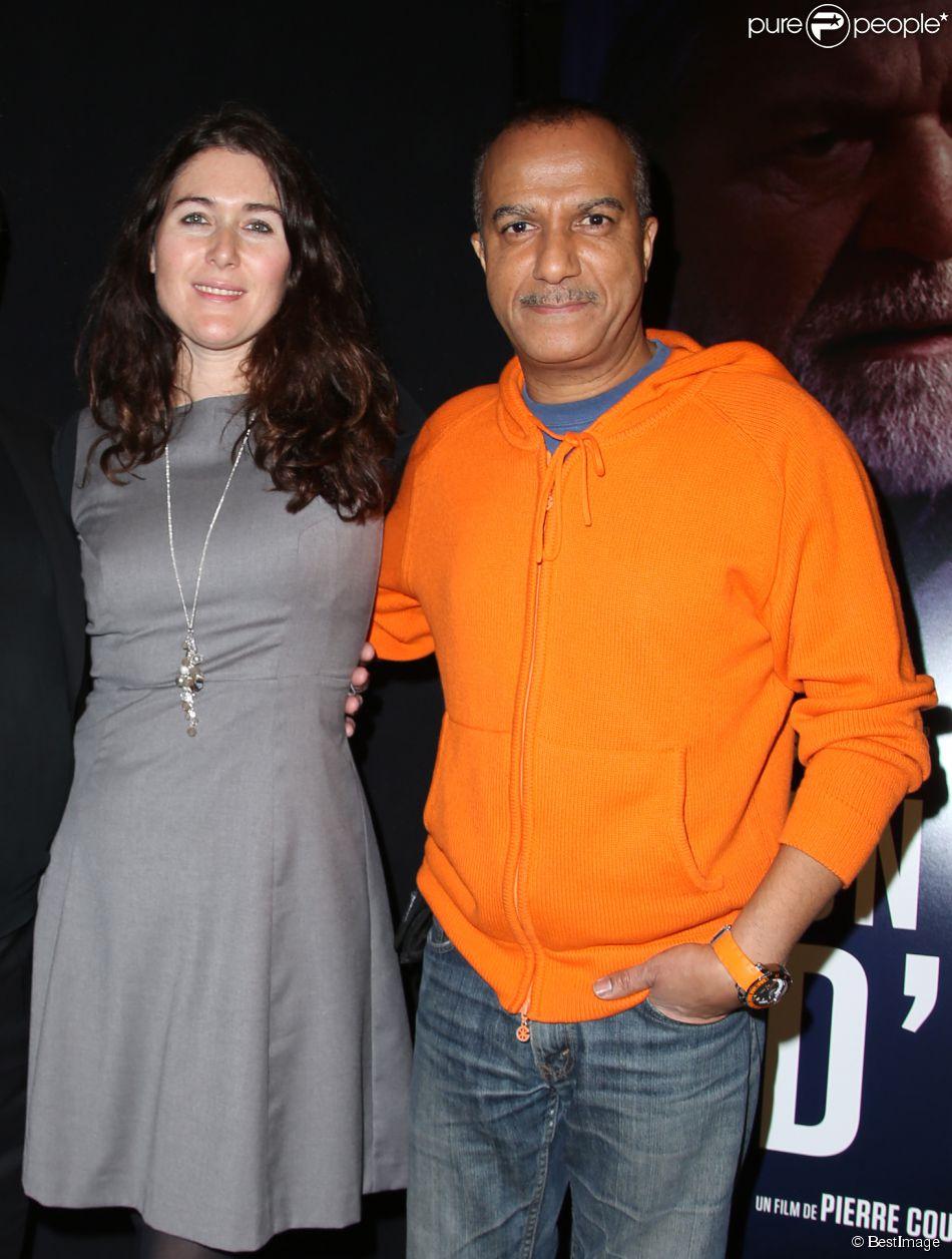 Pascal Legitimus et sa femme Adriana Santini - Avant-première du film Un homme d'Etat réalisé par Pierre Courrège à l'auditorium de l'Hôtel de Ville à Paris le 26 janvier 2015.