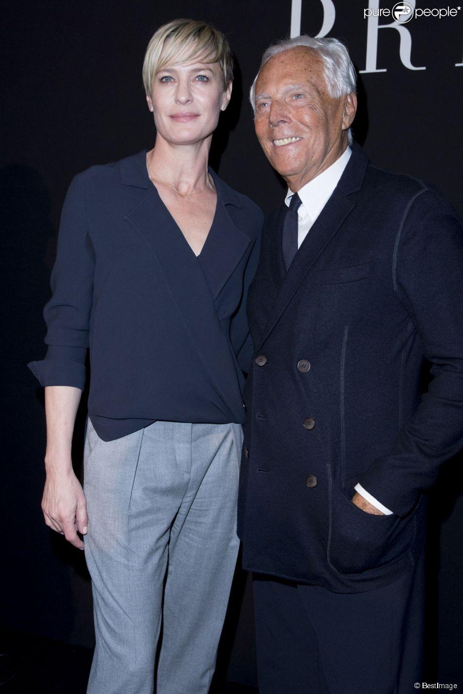 Robin Wright et Giorgio Armani