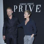 Fashion Week : Robin Wright et Ben Foster, amoureux à Paris et au défilé Armani