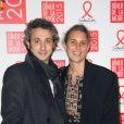 Isabel Marant et Jerôme Dreyfuss au Dîner de la mode pour le Sidaction au pavillon d'Armenonville à Paris le 29 janvier 2015.
