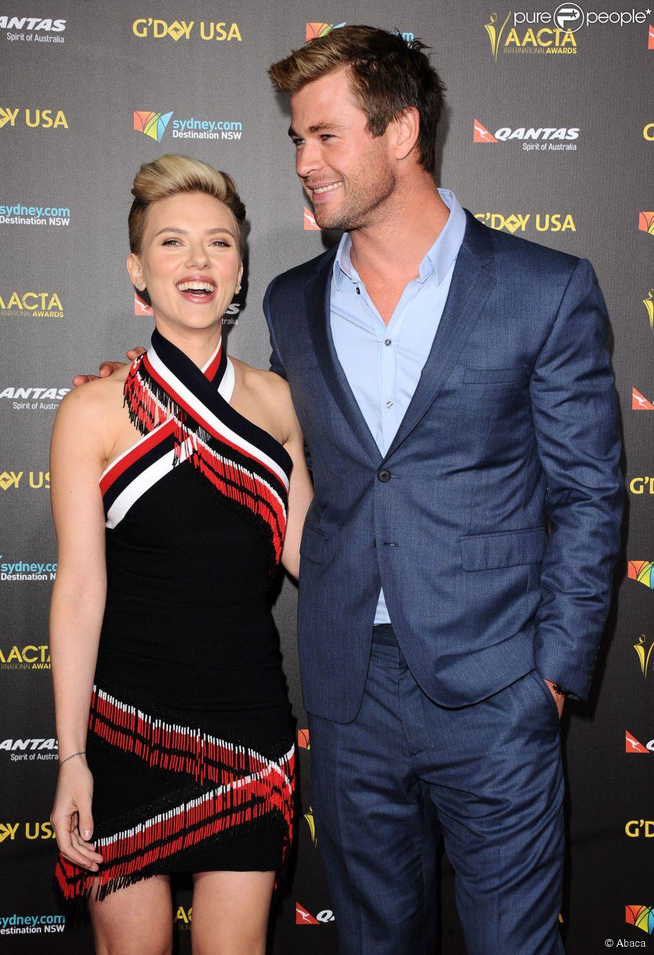 Scarlett Johansson et Chris Hemsworth assistent au G'Day USA Gala à l'Hollywood Palladium. Los Angeles, le 31 janvier 2015.