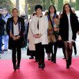 La Princesse Stéphanie de Monaco et ses filles Camille Gottlieb et Pauline Ducruet ont assisté à la 4ème représentation du 39ème Festival International du Cirque de Monte-Carlo au chapiteau de Fontvieille à Monaco, le 18 janvier 2015.
