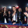 Robert Hossein et sa femme Candice Patou - La Princesse Stéphanie de Monaco et ses filles Camille Gottlieb et Pauline Ducruet ont assisté à la 4ème représentation du 39ème Festival International du Cirque de Monte-Carlo au chapiteau de Fontvieille à Monaco, le 18 janvier 2015.