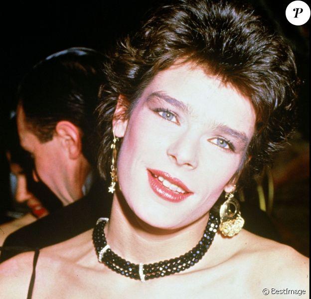 La princesse Stéphanie de Monaco à la soirée Dior chez Maxim's à Paris le 28 janvier 1985