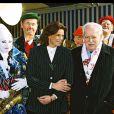 Le prince Rainier et Stéphanie de Monaco, le 18 janvier 2002.