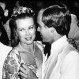 La princesse Grace et son fils Albert au Bal de la Croix-Rouge, à Monaco, en 1979.