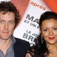 Martine McCutcheon et Hugh Grant à Paris le 18 novembre 2003.