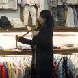 Kim Kardashian fait du shopping dans la boutique Trico Field à SoHo. New York, le 9 février 2015.