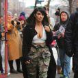 Kim Kardashian fait du shopping dans le quartier de SoHo. New York, le 9 février 2015. (Abaca TV)