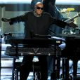 "Stevie Wonder se produit au Nokia Theatre L.A. Live lors du concert ""Stevie Wonder: Songs In The Key Of Life - An All-Star Grammy Salute"". Los Angeles, le 10 février 2015."