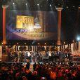"""Stevie Wonder se produit au Nokia Theatre L.A. Live lors du concert """"Stevie Wonder: Songs In The Key Of Life - An All-Star Grammy Salute"""". Los Angeles, le 10 février 2015."""