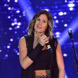 """La chanteuse Vitaa - Concert de l'opération """"Pièces Jaunes 2015"""" au Carré Belle-Feuille à Boulogne-Billancourt le 11 février 2015."""