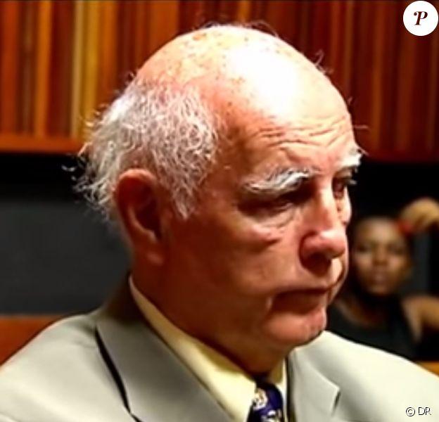 Bob Hewitt au cours de son procès pour viols et agressions sexuelles - février 2015