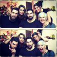 Jeny Priez et Luka Karabatic, Géraldine Pillet et Nikola Karabatic et la maman Radmila - photo issues du compte Facebook de Jeny Priez