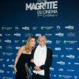 Julie Gayet et Pierre Richard (Magritte d'Honneur) - Cérémonie des Magritte du cinéma belge à Bruxelles le 7 février 2015.