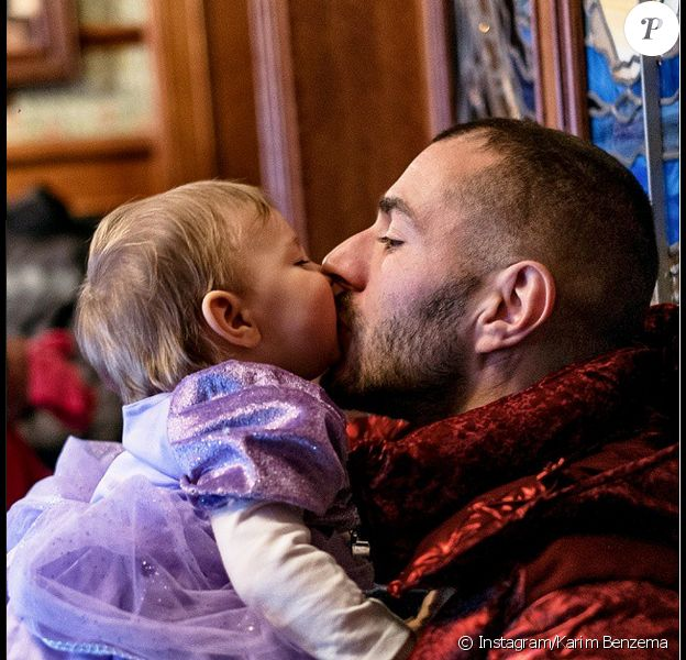 Karim Benzema et sa petite Mélia, photo publiée sur son compte Instagram le 13 février 2015