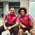 Karim Benzema et son coéquipier Marcelo - photo publiée sur son compte Instagram le 17 janvier 2015