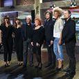 """Exclusif - Brigitte, Dave, Régine, Cali, Amanda Scott et Oldelaf - Enregistrement de l'émission """"Du côté de chez Dave"""" le 21 janvier 2015. Cette émission spéciale Régine sera diffusée le 22 février 2015 sur France 3."""