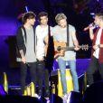 """Louis Tomlinson, Niall Horan, Liam Payne, Zayn Malik - Le groupe One Direction en concert à Adelaïde en Australie dans le cadre de leur tournée """"On The Road Again"""", le 17 février 2015"""