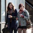 """Katharine McPhee, Krysta Rodriguez - Tournage de la serie """"Smash"""" à New York, le 14 novembre 2012."""