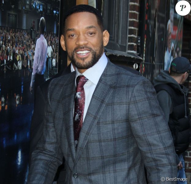 "Will Smith arrive à l'émission ""Late Show With David Letterman"" à New York, le 18 février 2015"