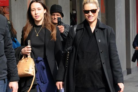 Michelle Hunziker, enceinte et canon : Shopping avec son aînée Aurora Ramazzotti