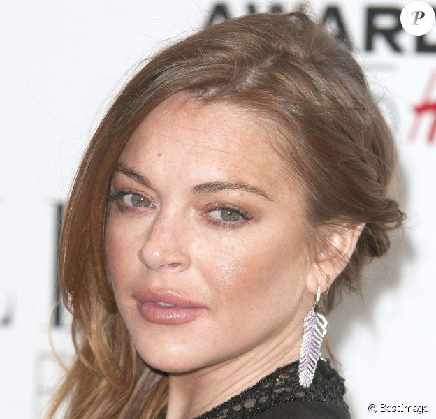"""Lindsay Lohan lors de la cérémonie des """"ELLE Style Awards 2015"""" à Londres, le 24 février 2015."""