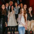 """Juliette Besson et l'équipe du film """"Que justice soit nôtre"""" - Soirée de lancement officielle du magazine Aestus """"Fleurs de Rébellion"""" au Buddha-Bar à Paris, le 24 février 2015."""