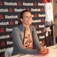 Laure Manaudou en séance de dédicaces pour Reebok chez Intersport à Paris. Le 23 avril 2014.