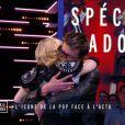 Madonna face à l'actu dans Le Grand Journal sur Canal+, le 2 mars 2015.
