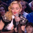 """Madonna évoque son album """"Rebel Heart"""" dans Le Grand Journal de Canal+, le 2 mars 2015."""