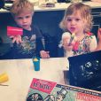 Gideon Scott et Harper Grace, les enfants de Neil Patrick Harris sur Instagram le 13 octobre 2014