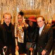 Gilbert Ros, Katia Bumba (créatrice du concept store Aloha), Hapsatou Sy, Gilbert Ros à la soirée Clélia Tavernier au Showroom Aloha à Paris, le 3 mars 2015.