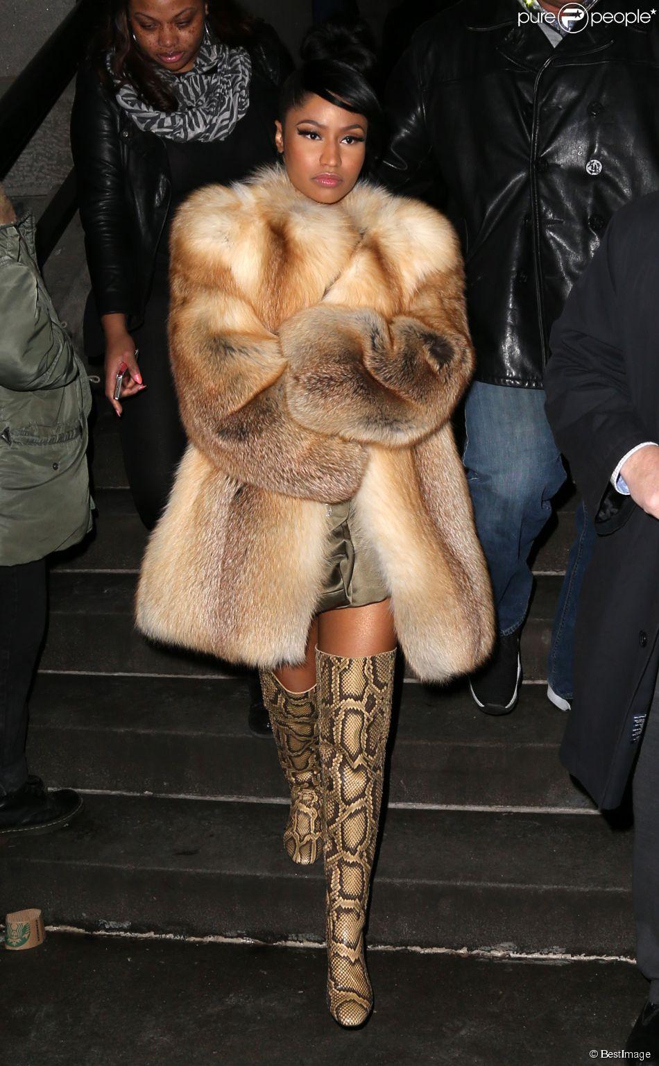Nicki Minaj lors du déilé Marc Jacobs lors de la fashion week à New York le 19 février 2015.
