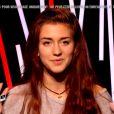 Manon Palmer face à Davy dans The Voice 4, le 7 mars 2015 sur TF1.