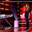 Manon Palmer face à Davy dans The Voice 4, le 7 mars 2015 sur TF1.