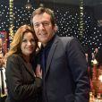 Exclusif - Ingrid Chauvin et Jean-Luc Reichmann - Enregistrement de l'émission  Le Plus Grand Cabaret du monde  présenté par Patrick Sébastien à La Plaine Saint-Denis le 10 février 2015.