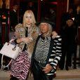 Exclusif - James Goldstein et sa compagne Ilona Guzarevich - Arrivées et sorties de l'aftershow Christian Dior lors de l'inauguration de la discothèque Les Bains Douches à Paris, le 6 mars 2015.