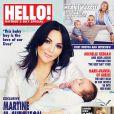 Martine McCutcheon pose avec son bébé Rafferty en couverture du magazine Hello! (16 mars 2015)