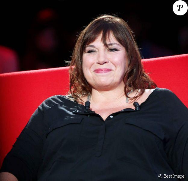 Exclusif - Enregistrement de l'émission Le Divan présentée par Marc-Olivier Fogiel, avec Michèle Bernier en invitée, le 13 mars 2015. Emission diffusée le 17 mars 2015, sur France 3.