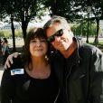"""Michèle Bernier et son ex-compagnon Bruno Gaccio - 2e tournoi de pétanque au profit de l'association """"MeghanOra"""" sur l'Esplanade des Invalides à Paris, le 28 septembre 2014."""