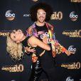 Redfoo, Emma Slater à la soirée Dancing with the Stars pour la première de la vingtième saison à Los Angeles, le 16 mars 2015.