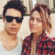 Caroline Receveur et son petit ami Valentin à Dubai en mars 2015
