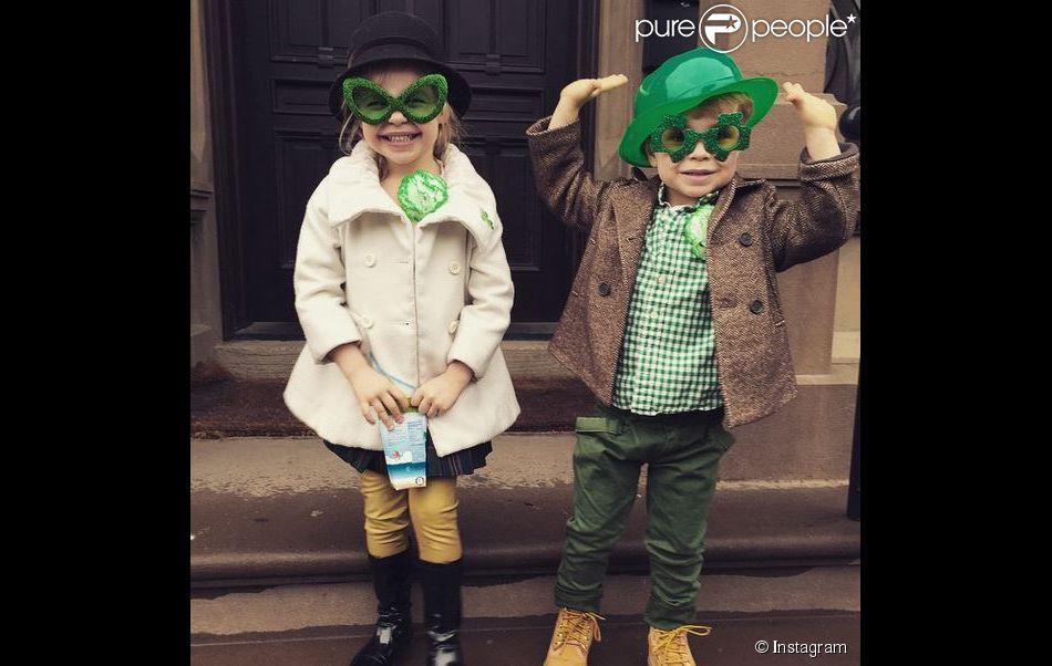 Gideon Scott et Harper Grace, les enfants de Neil Patrick Harris le 17 mars 2015