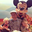David Burtka et ses enfants Gideon Scott et Harper Grace le 6 décembre 2013