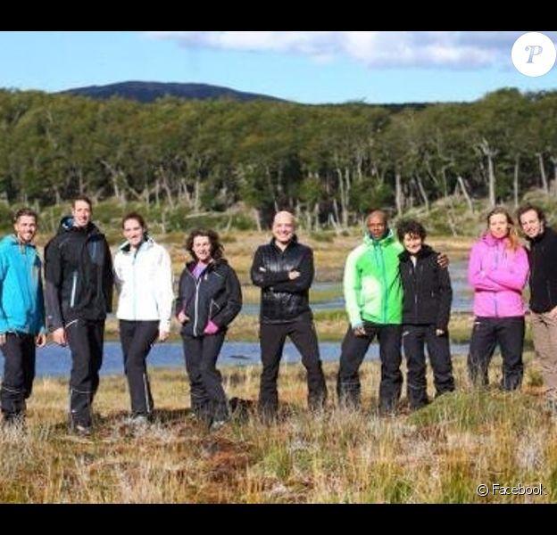 Les huit champions de Dropped - Photo prise sur le tournage partagée par Philippe Candeloro sur Facebook en mars 2015