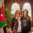 """"""" La reine Rania de Jordanie rencontrant l'actrice Yusra le 18 mars 2015 en amont de la Fête des mères en Jordanie, le 21 mars. """""""